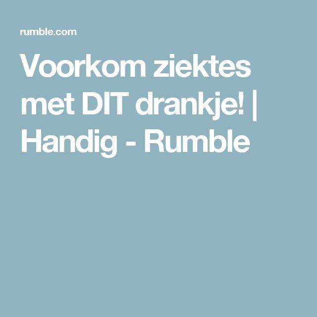 Voorkom ziektes met DIT drankje! | Handig - Rumble