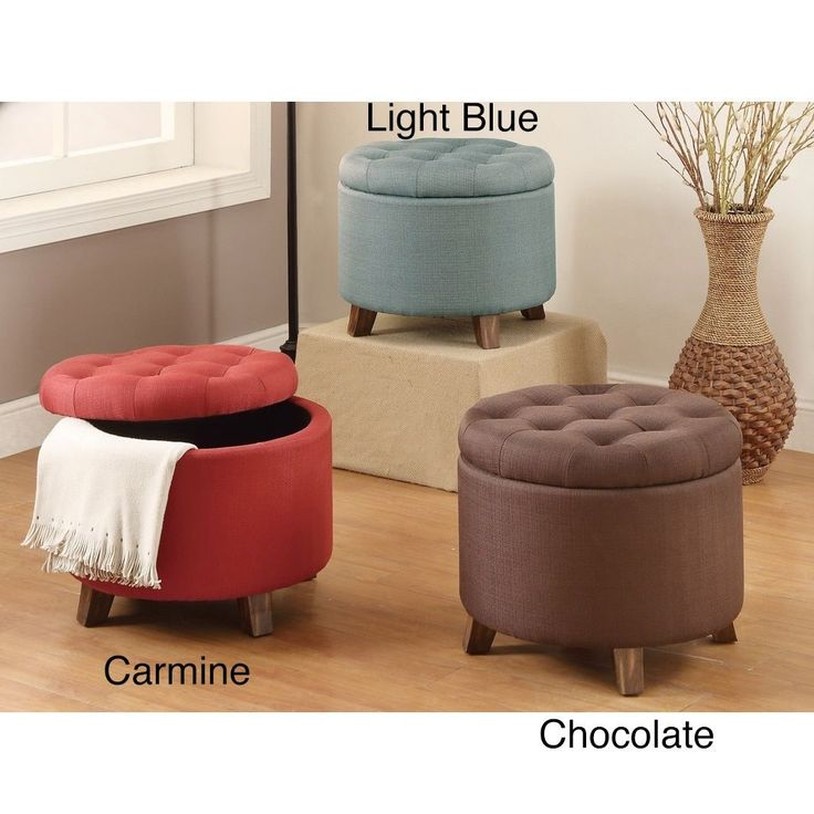 20-inch Tufted Top Upholstered Round Storage Ottoman (Carmine Ottoman with Storage  Space), Natural (Poly Synthetic Fiber) - 25+ Best Ideas About Round Storage Ottoman On Pinterest Ottoman