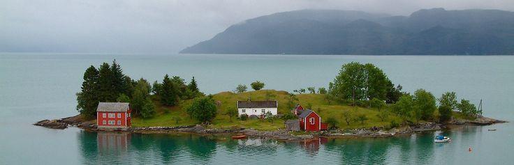 Westkust panorama, in de buurt van Bergen