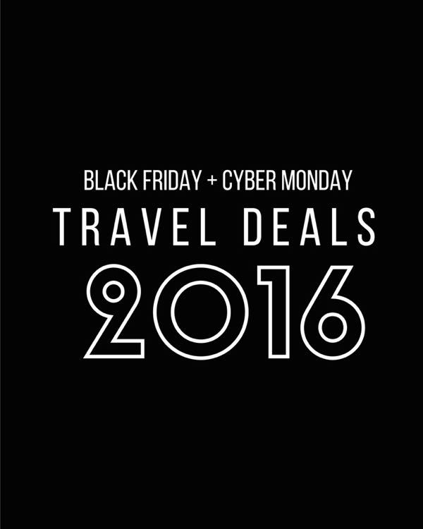 Black Friday Cyber Monday Travel Deals