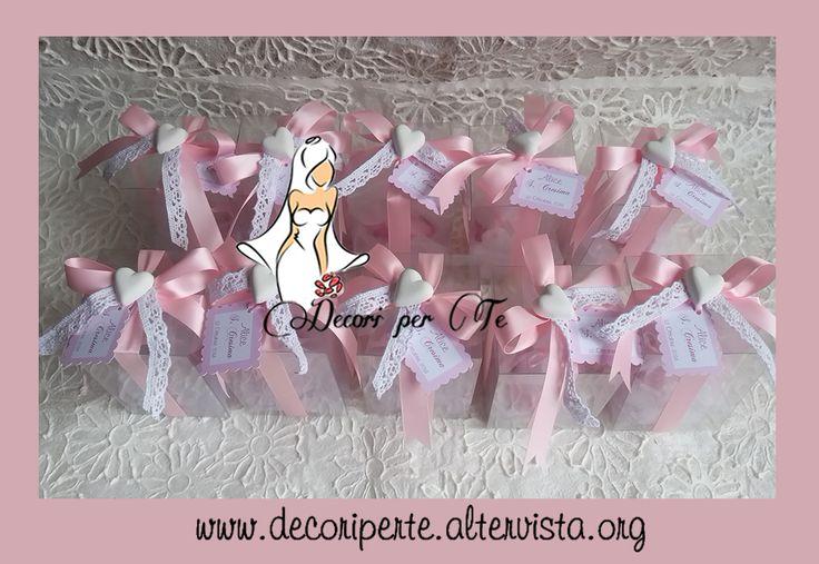 SACCHETTINO/BAG PER BOMBONIERE CRESIMA - CONFIRMATION FAVOUR BAGS -