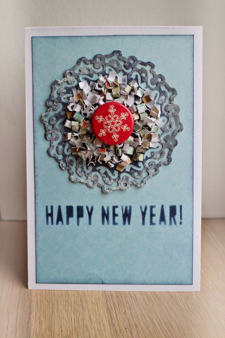 New year christmas snow card cas clean and simple scrapbooking