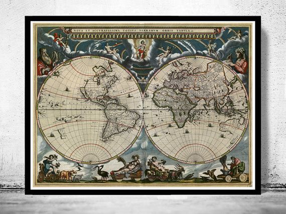215 best old world maps images on pinterest old world maps old world map antique 1684 gumiabroncs Images