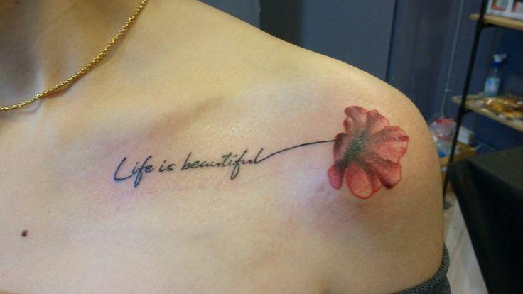 Thank you so much😊😊😊😊 #flower tattoo #tattoo #kaosanroad