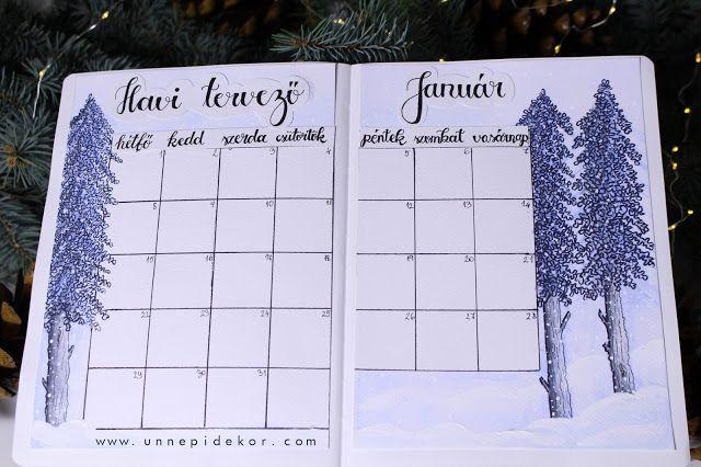 JANUÁR 2018 - BULLET JOURNAL