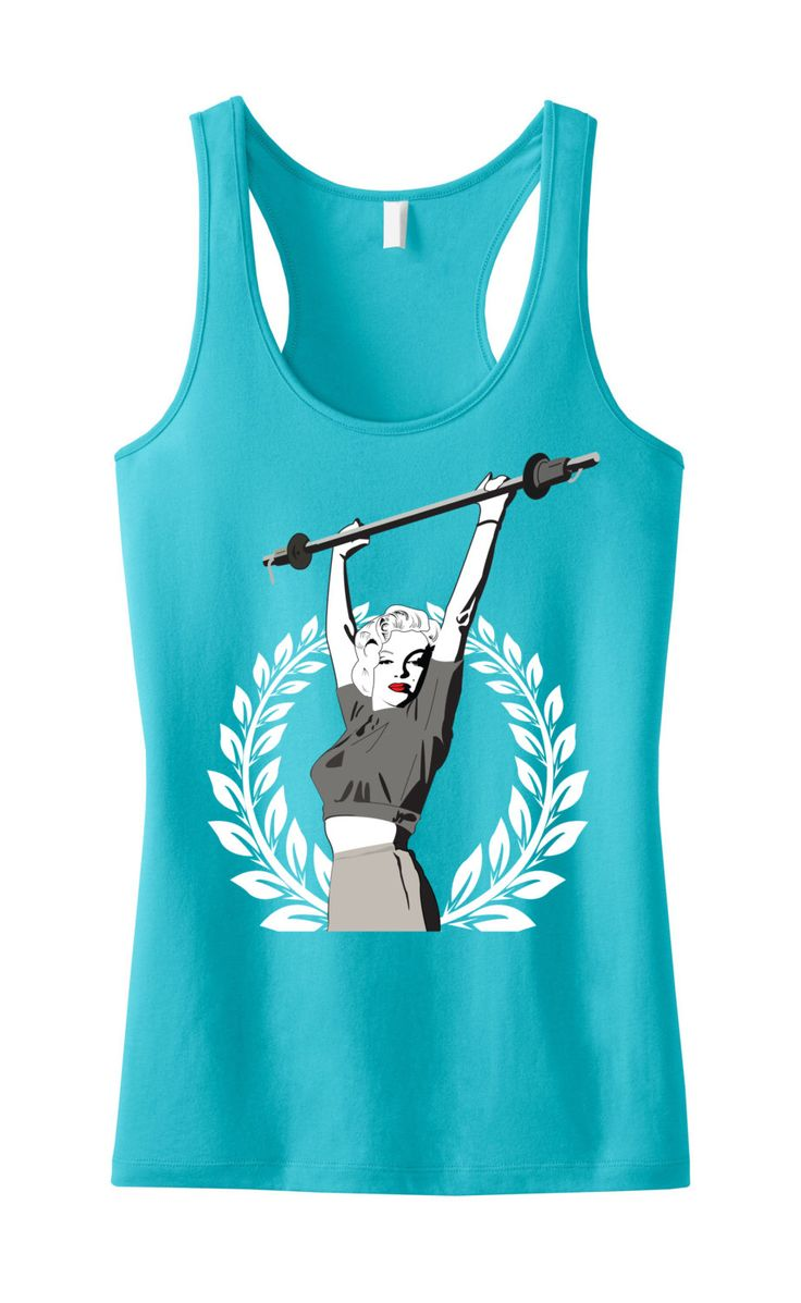 Marilyn Monroe Lifting Workout Tank Top, Workout Clothes, Marilyn Monroe, Workout Shirt, Gym Tank, Gym Clothing, workout tank by NobullWomanApparel on Etsy https://www.etsy.com/listing/163540299/marilyn-monroe-lifting-workout-tank-top