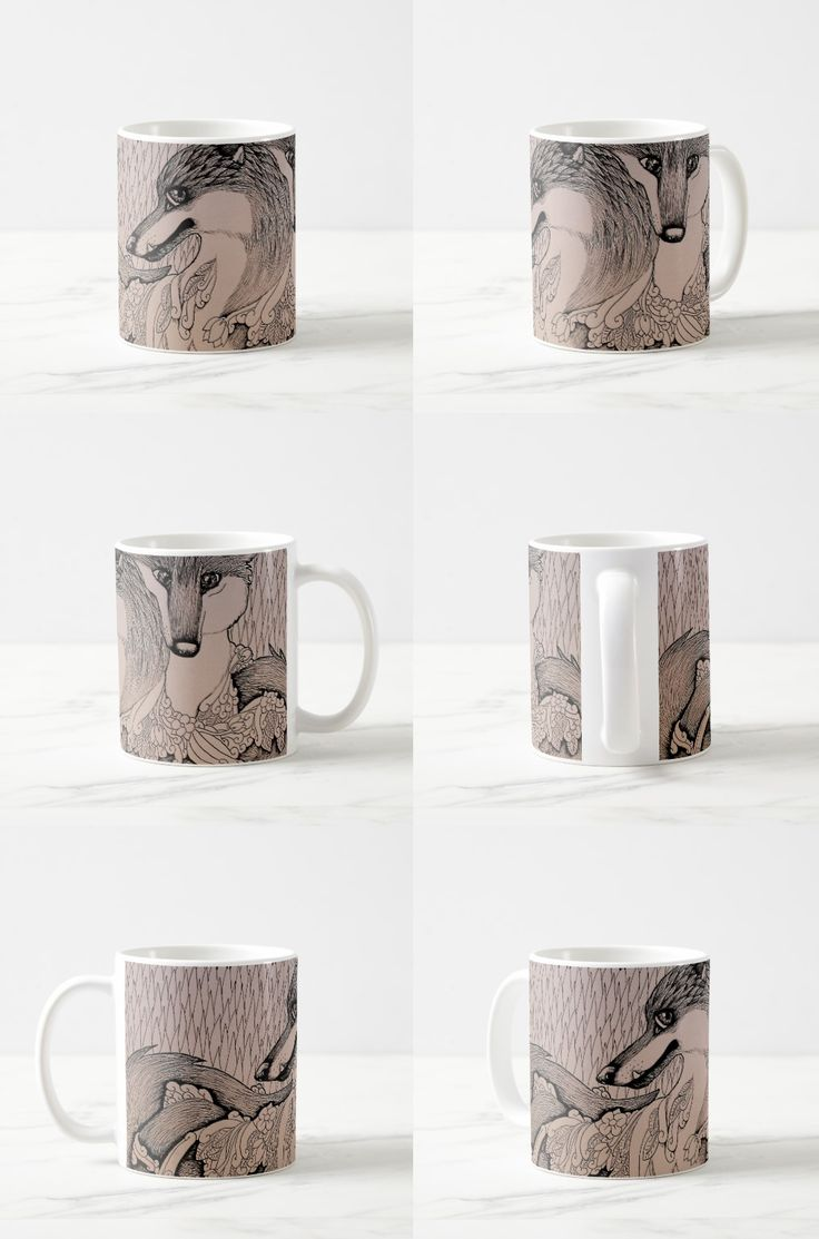 """Snaggletooth"" Illustrated Fox Coffee Mug #fox_products #fox_couple #fox_art #fox_illustration #foxes"