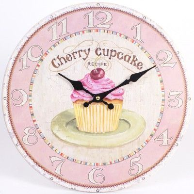 Orologio da parete Cherry Cupcake