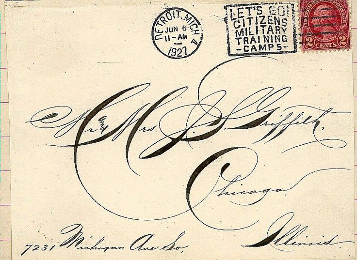 Calligraphy from 1927. Seriously gorgeous.
