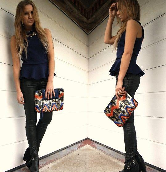 Peplum top w jeans (by Nicola Kirkbride) http://lookbook.nu/look/3138045-Peplum
