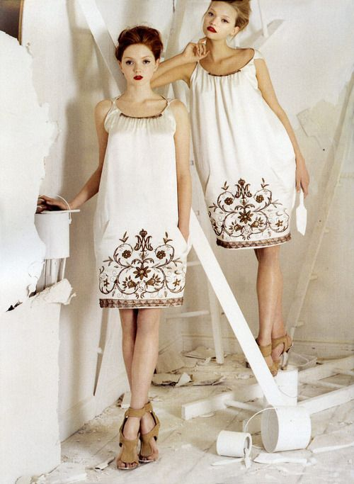 Lily Cole and Gemma Ward photographed by Tim Walker for Vogue, Feb 2006