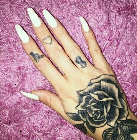 25 best ideas about hand tattoos girl on pinterest for Small rose tattoo tumblr