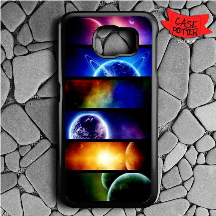 Planet And Space Samsung Galaxy S6 Black Case