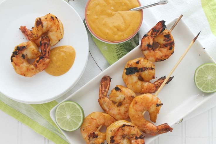 Mango Chili Lime Tiger Shrimp. Mangoes blended with lime and chili powder in a sweet, savory and tangy sauce that serves as both a marinade and a dipping sauce for grilled tiger shrimp.