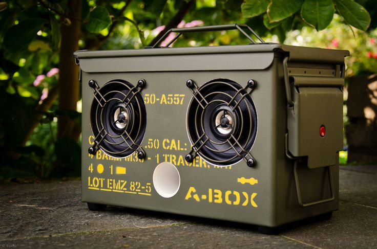 Best Wireless Bluetooth Speakers Ammo Can BoomBox Thodio .22CAL A-BOX | Consumer Electronics, Portable Audio & Headphones, Portable Stereos, Boomboxes | eBay!
