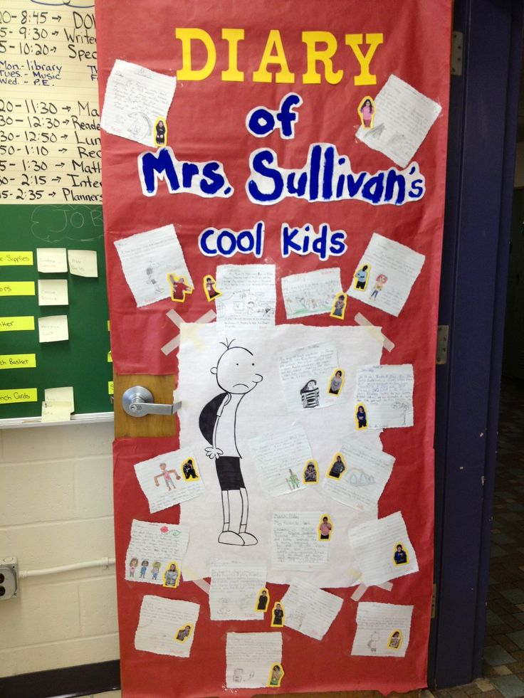 Literacy Classroom Decor ~ Diary of a whimpy kid door for literacy week