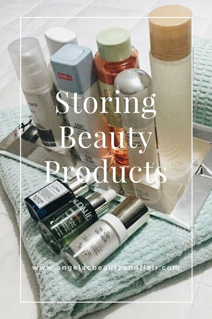Learn tips on the best ways to store your beauty products to keep the integrity of the ingredients and longevity of the products.  Visit my website to view. http://www.angelacbeautyandflair.com/tips-storing-beauty-products/ skincare storage