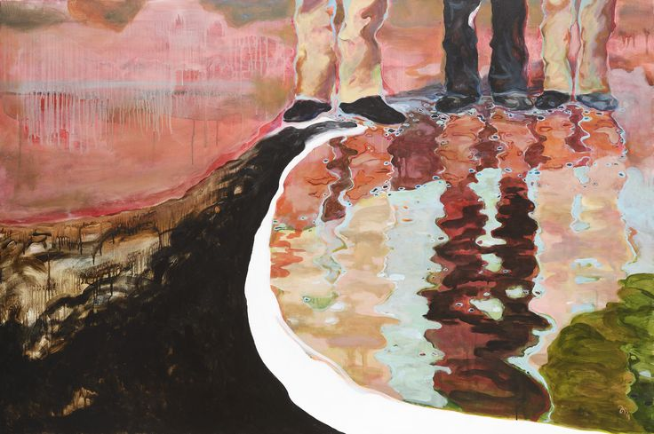 Jiří Hauschka: Boys, 2014, acrylic on canvas, 100 x 150 cm