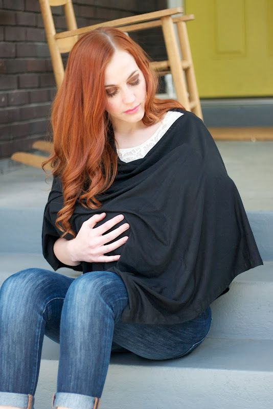A VERY easy tutorial on a modern looking nursing shawl. It covers your front AND your back! Plus, it looks like something to wear instead of a giant bib. (The instructions look easy, too!)