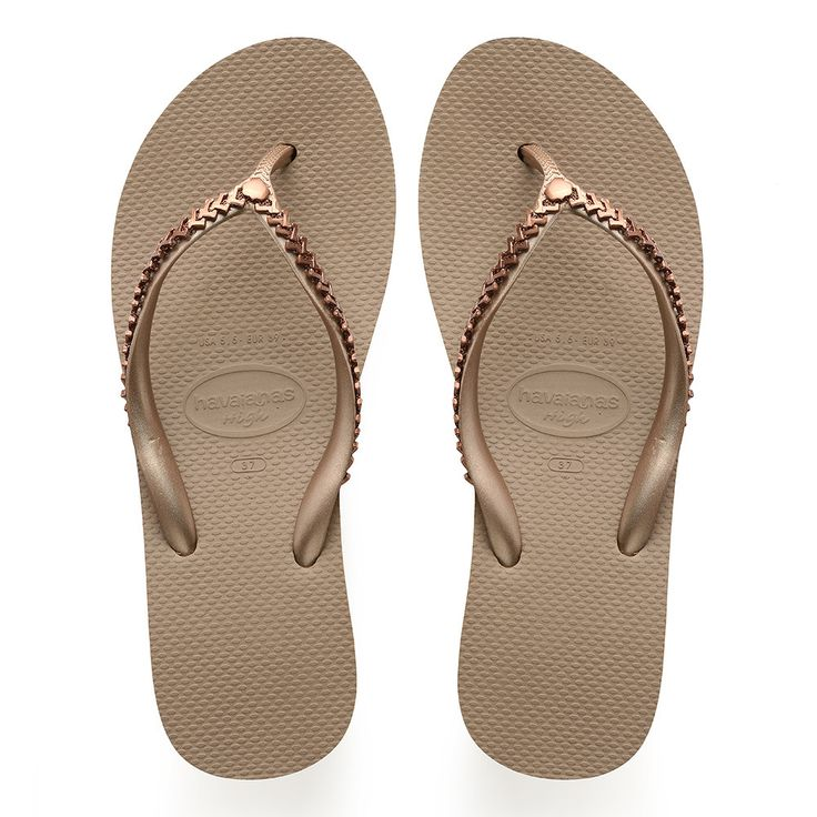 Havaianas High Metal Grega Sandal Rose Gold  Price From: 82,12$CA  https://flopstore.ca/ca_french/new-arrivals/havaianas-high-metal-grega-sandal-rose-gold.html