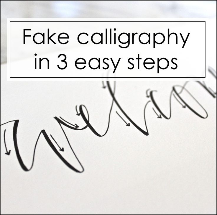 17 Best Ideas About Fake Calligraphy On Pinterest How To
