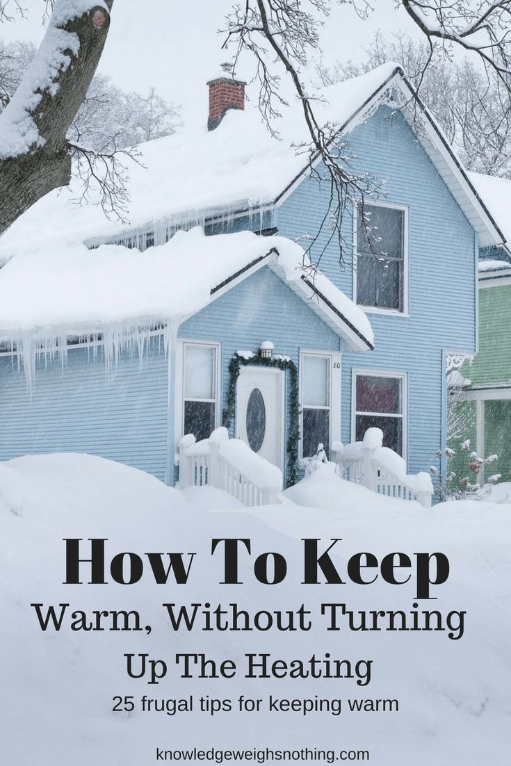 25 frugal ways to keep warm