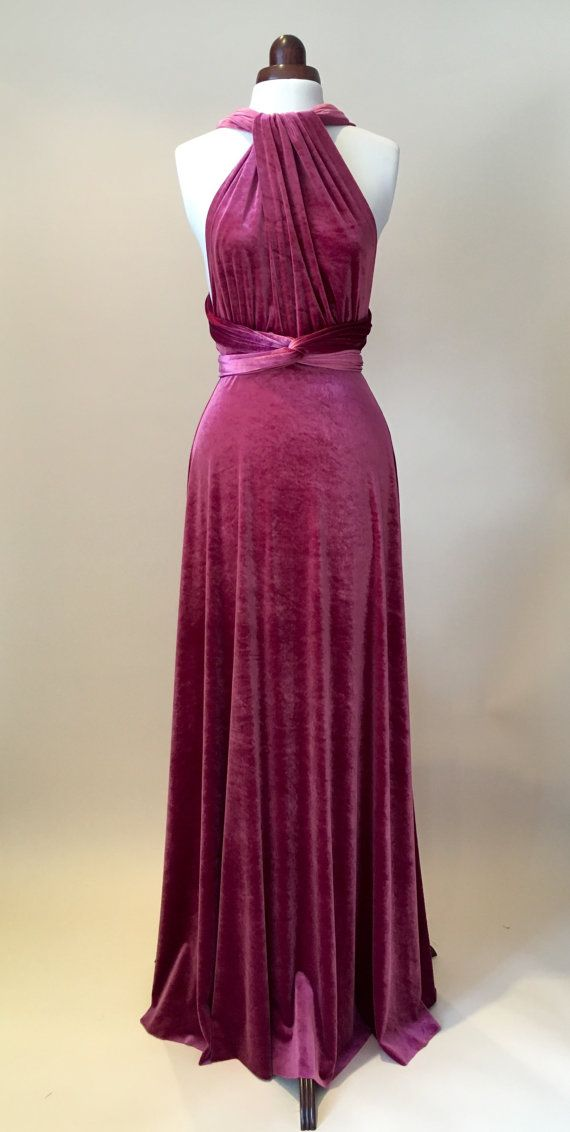 Bridesmaid dress prom dress infinity dress mauve by Valdenize