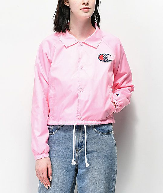 552d661b8701c Champion Pink Crop Coaches Jacket in 2019