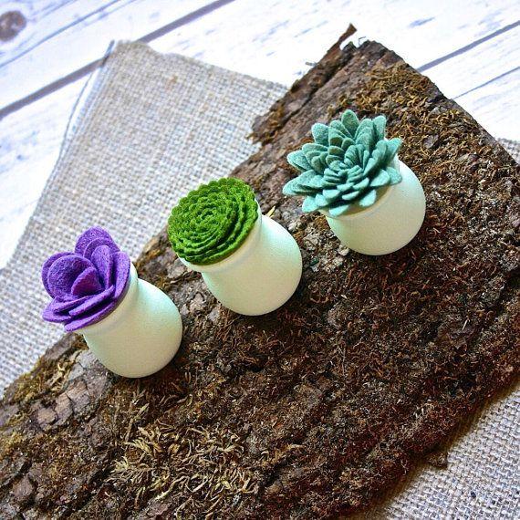 Mini feutre succulentes plantes grasses - des faveurs de mariage Succulent