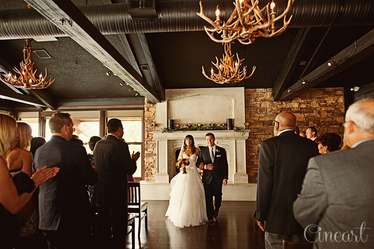 Real Calgary Wedding The Lakehouse On Lake Bonavista Gorgeous Antler Chandeliers And Fireplace With Mantel That Can Be Adorned Fls F