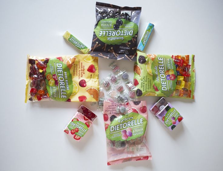 Novità in casa Dietorelle: le uniche caramelle alla frutta dolcificate con estratto di Stevia! Senza glutine, sugar free e il gusto di sempre!