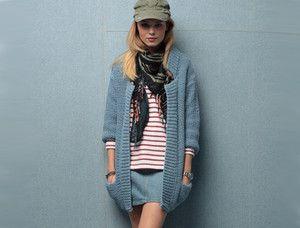 Un long gilet à tricoter, DIY