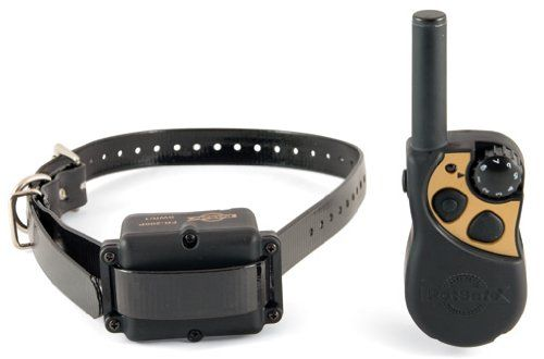 $121.31-$249.99 With a range up to 400 yards away, this trainier lets you manage your furry friend's unwanted behavior even if he's not wearing a lead.  The unit has 8 levels of correction and a lightweight collar that can fit any dog comfortably,  Rechargeable remote and collar means no batteries to buy.  For use in the US only.  This unit is compatible with all US 110v outlets and are not to be ...