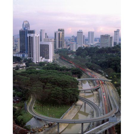 Malaysia Business Centre Kuala Lumper Canvas Art - Martin Stolworthy Design Pics (14 x 17)