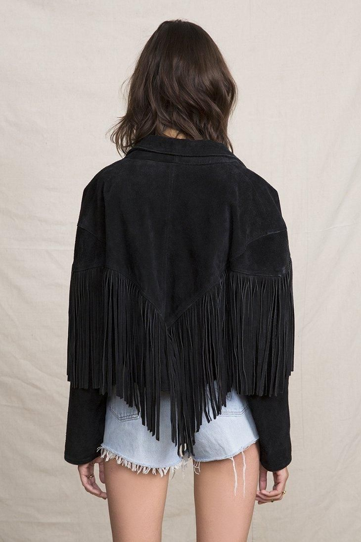 Vintage Fringe Suede Jacket #urbanoutfitters