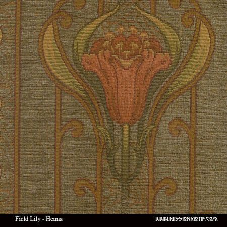 Arts And Crafts Style Upholstery Fabric