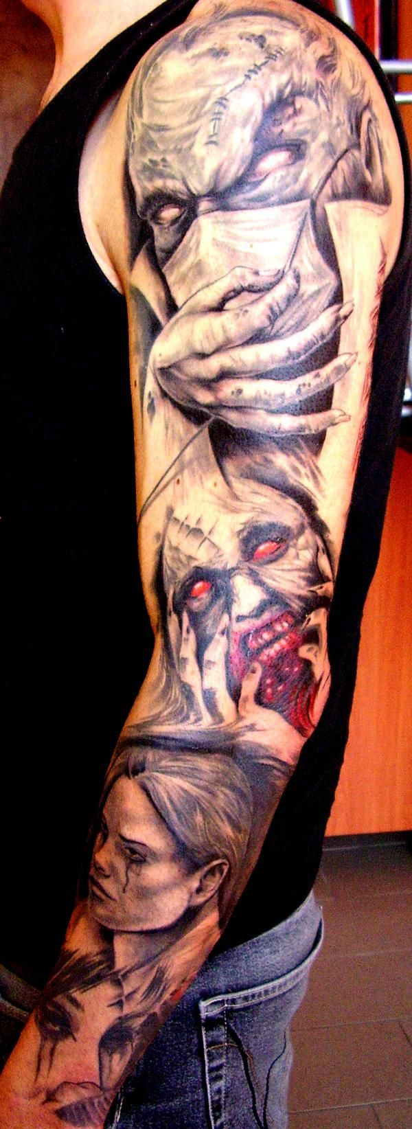 Morbid but fab art work.....Matteo39s tattoo