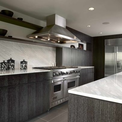 Grey kitchen cabinets with grey wood flooring kitchen for Grey wood kitchen cabinets