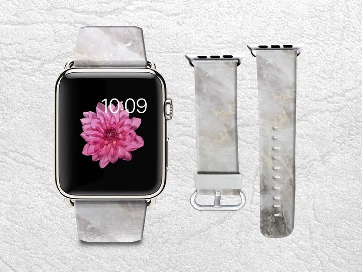Apple Watch Band for Series 1 Series 2, Leather Strap Wrist Band Replacement with Metal Clasp 38mm 42mm Adapter - Grey Marble print -X1 by CasesByLorraine on Etsy https://www.etsy.com/uk/listing/290495127/apple-watch-band-for-series-1-series-2