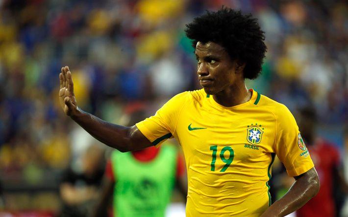 壁紙をダウンロードする Willian, サッカー, ブラジル, 車椅子サッカーワールドカップブラジル, チェルシー, mf, Willian Borges da Silva