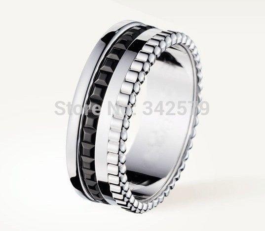 Бесплатная доставка женские кольца мода черный керамические кольца стали цвет без камня кольцо узкие версия бс-s кольцо леди модель