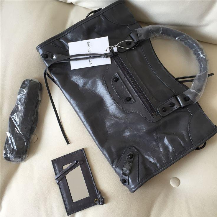 Balenciaga giant city woman bag medium size 38cm dark gray