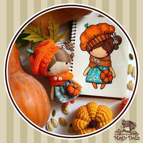 Ma Petite Poupee - Pumkin,  h=11cm (for example/to order, для примера/под заказ)…