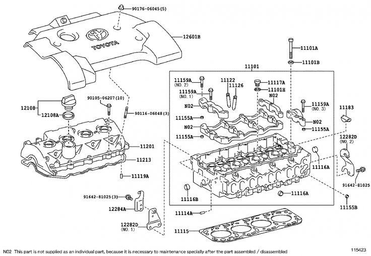 Toyota Corolla Verso Engine Diagram