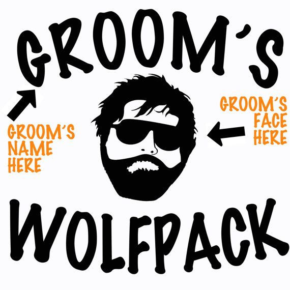 20% OFF YOUR ORDER WITH CODE PINTEREST20 - One of the best bachelor party ideas! Matching shirts with the bachelor's name and face right on the tee. Imagine your bachelor's face when he shows up to his own bachelor party and his wolfpack is there all decked out with his face on their shirts! Outfit your Wolfpack for the most important occasion in your life; The Bachelor Party!