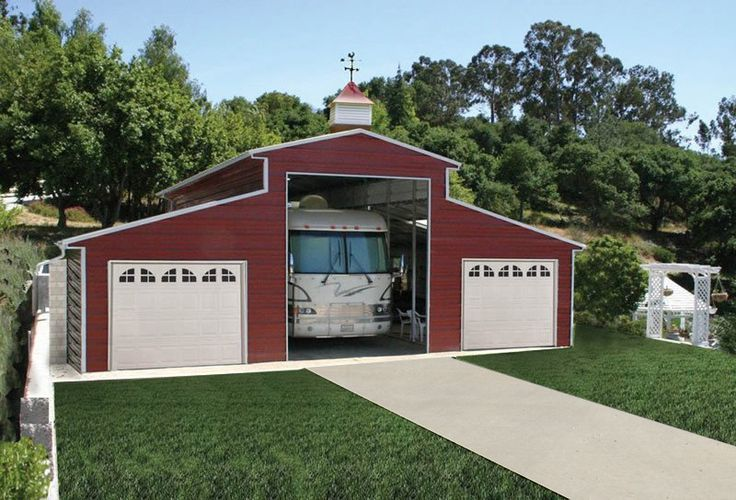 Pws rv barns garages and carports offer superior for Rv garage plans and designs