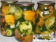 Зеленые помидоры, маринованные с петрушкой и чесноком