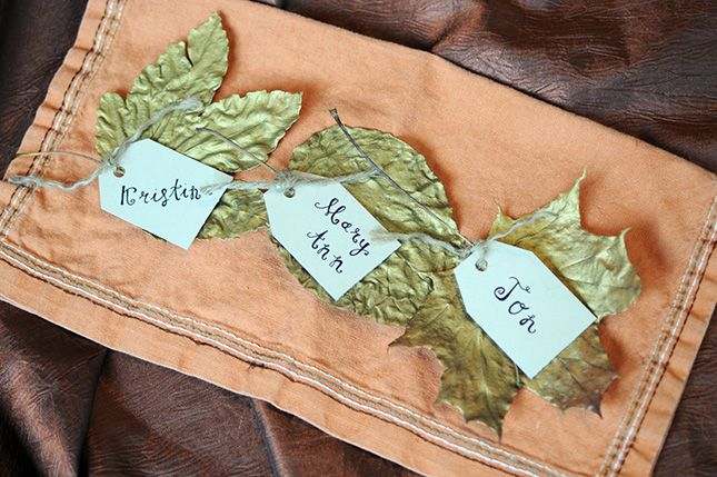 12 DIY Ways to Use Real Fall Leaves via Brit + Co.
