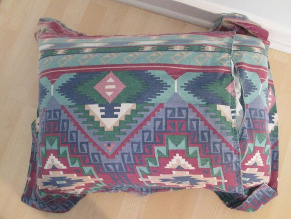 southwestern ikat pillowcase vintage 90s home decor bed home decor in the 90s trend home design and decor