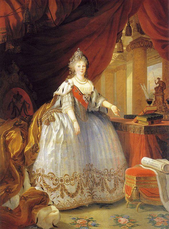 Empress Maria Feodorovna by Louise Élisabeth Vigée Le Brun, 1799.